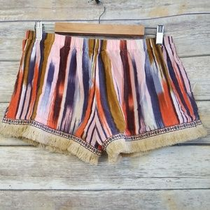 Band of Gypsies Urban Outfitters Fringe Hem Shorts